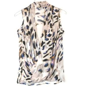 Kut from the Kloth Wrap Sleeveless Blouse